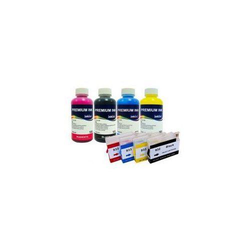 Wieczne Kartridże do HP Officejet 932/933 + Tusze InkTec Pigment 4x100 ml.