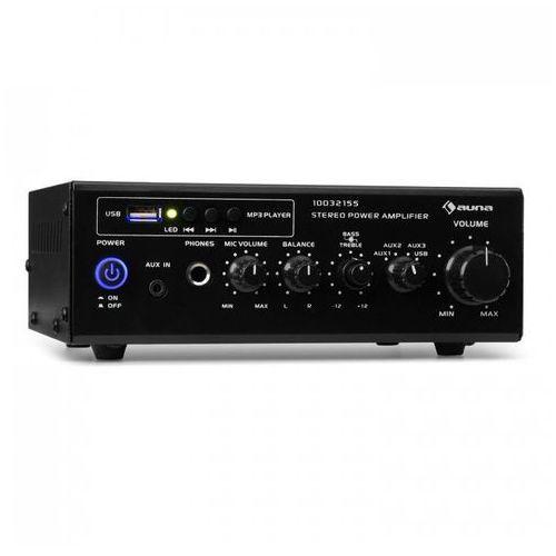 Auna Amp3 USB Miniwzmacniacz stereo złącze mikrofonowe i słuchawkowe czarny