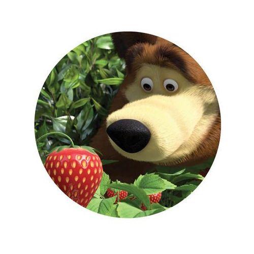 Dekoracyjny opłatek tortowy masza i niedźwiedź - 20 cm marki Smakop