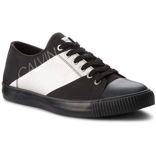 Trampki CALVIN KLEIN JEANS - Antonio SE8590 Black/Silver, kolor czarny
