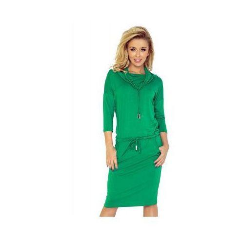 44-5 Sukienka sportowa z golfem - zielony