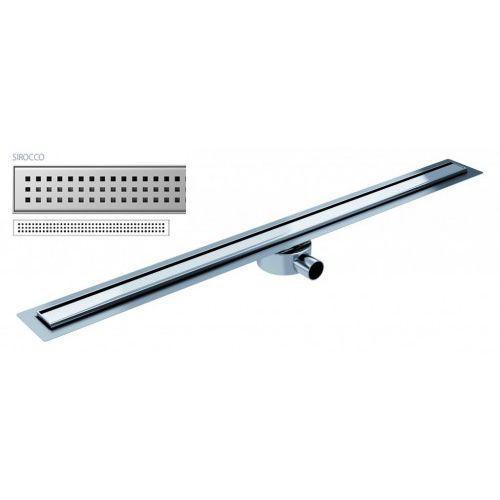 Odpływ liniowy elite slim sirocco 90 cm metalowy syfon el900si marki Wiper