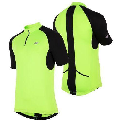 4f Męska koszulka rowerowa h4l18 rkm001 zielony m