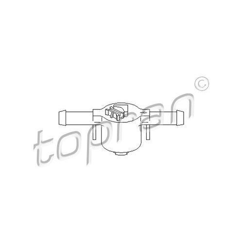 Zawór, filtr paliwa TOPRAN 109 069, 109 069