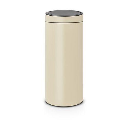 Brabantia - Kosz Touch Bin - 30 l - plastikowe wiaderko - migdałowy - migdałowy (8710755115042)