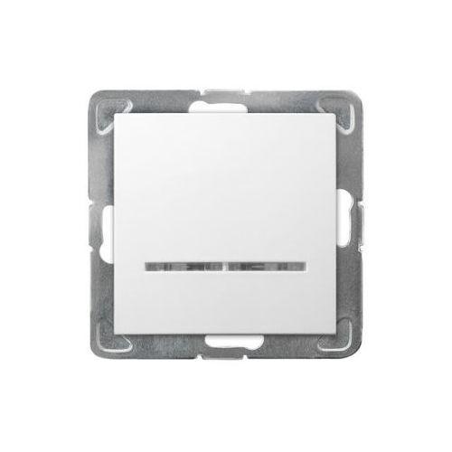 Łącznik jednobiegunowy z podświetleniem Biały - ŁP-1YS/m/00 Impresja