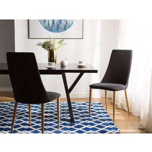 Beliani Zestaw do jadalni 2 krzesła czarne clayton (4260586353686)