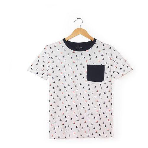 Koszulka z krótkim rękawem z nadrukiem bateaux 10-16 lat marki R pop