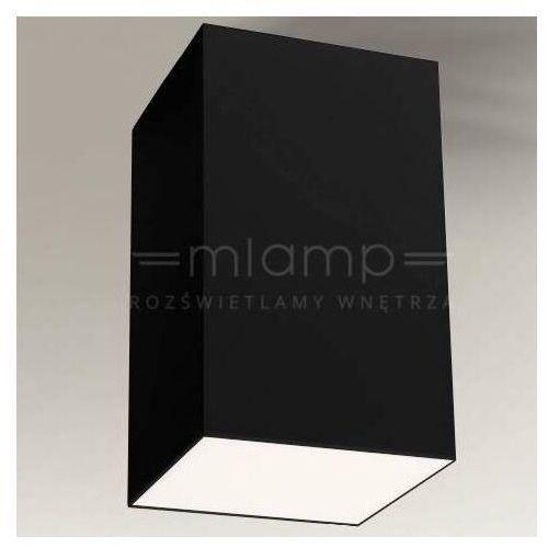 Natynkowa LAMPA sufitowa ARAO 1179 Shilo metalowa OPRAWA downlight kostka cube czarna, 1179
