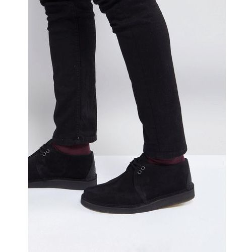 originals desert trek shoes in black suede - black, Clarks