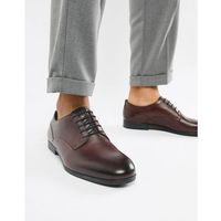 axminster formal shoes in wine leather - red, H by hudson