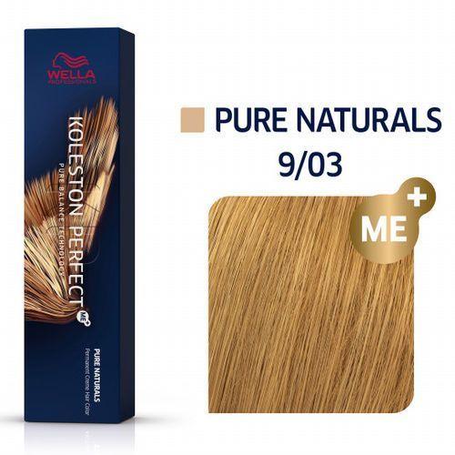 Wella professionals Wella koleston perfect me+   trwała farba do włosów 9/03 60ml (4015600172329)
