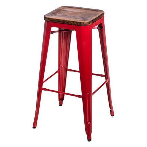 D2.design Hoker paris wood 75cm sosna - czerwone (5902385704229)