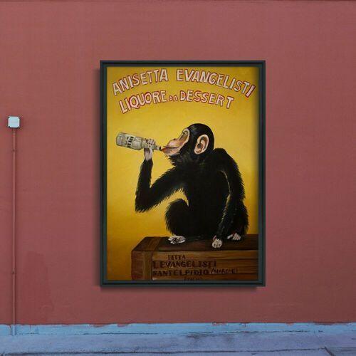 Plakat w stylu vintage plakat w stylu vintage anisetta evangelisti liquore da dessert marki Vintageposteria.pl