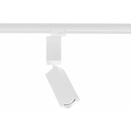 Reflektorowa LAMPA sufitowa SHIMA 7698 Shilo metalowa OPRAWA prostokątna do 3-fazowego systemu szynowego biała (5903689976985)