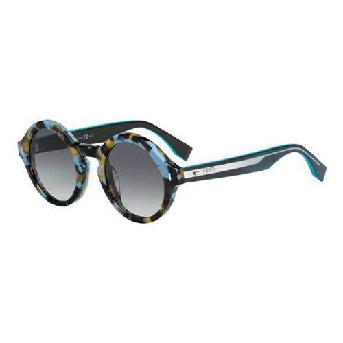 Okulary Słoneczne Fendi FF 0153/S COLOR BLOCK UJA/VK, kolor żółty