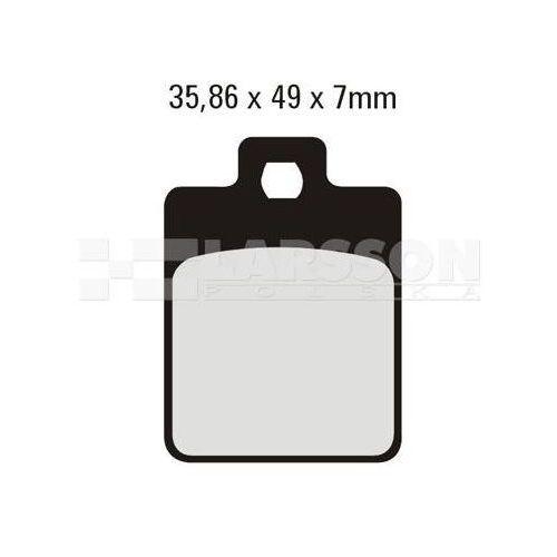 Klocki hamulcowe EBC (2 szt.) SFA260HH 4101995 Piaggio/Vespa S, Liberty 125, Gilera Runner SP