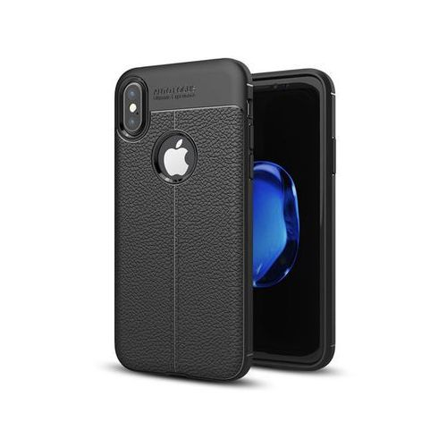 Etui pancerne Alogy leather case - Apple iPhone X czarne