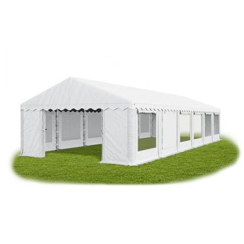 6x12x2m, całoroczny namiot cateringowy, okna z moskitierą rolowane do góry mocna konstrukcja winter/pe 72m2 marki Das company