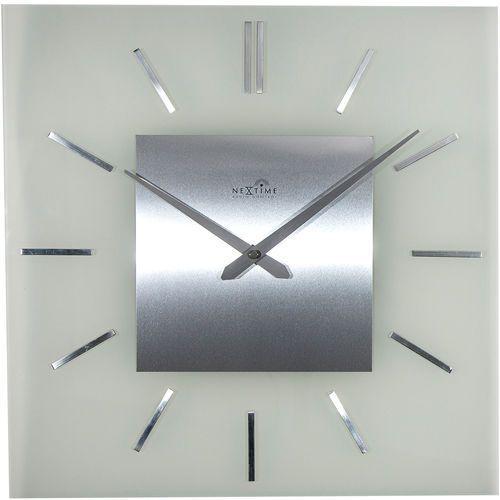 Zegar ścienny sterowany radiowo Stripe Nextime 40 x 40 cm (3148), 3148