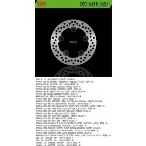 NG1341 TARCZA HAMULCOWA APRILIA RS 125, TUONO 1000, RSV 1000 (220X102X5 5 OTWORÓW)