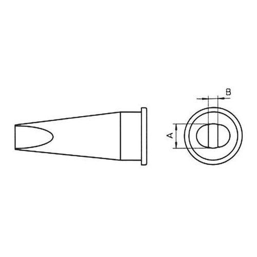 Grot lutowniczy Weller LHT-C, T0054445599 Kształt dłuta, prosty, 3.2 mm, 1 szt.