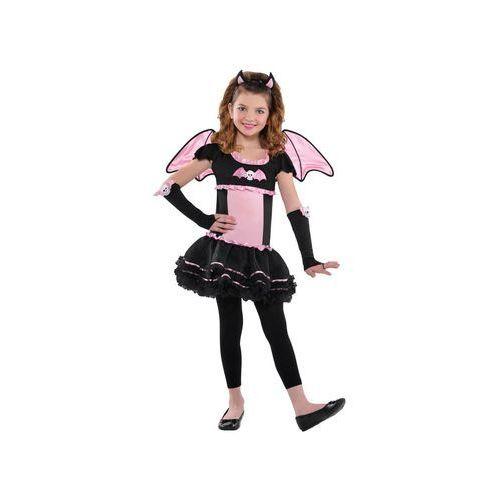 Kostium różowy nietoperz z czaszką dla dziewczynki - 8/10 lat (134) marki Amscan