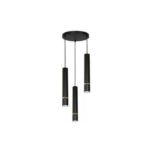 Luminex Reno 5171 lampa wisząca zwis 3x60W GU10 czarna/złota