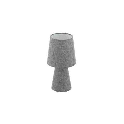 Lampka carpara 97122 stołowa nocna 2x5,5w e14 led h-340mm szara marki Eglo