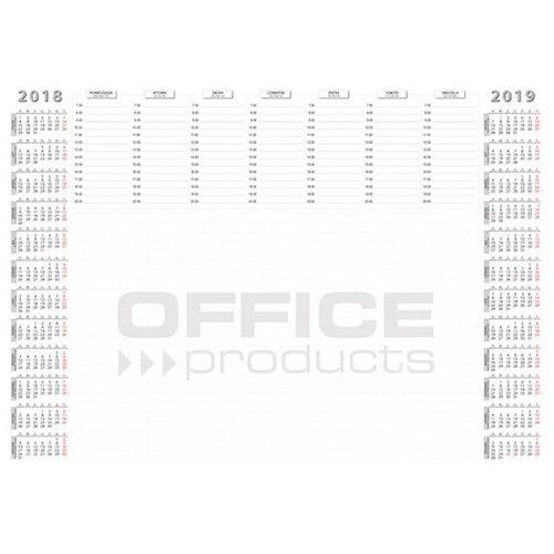 Podkładka na biurko OFFICE PRODUCTS, planer 2018/2019, biuwar, A2, 52 ark., 19041141-99