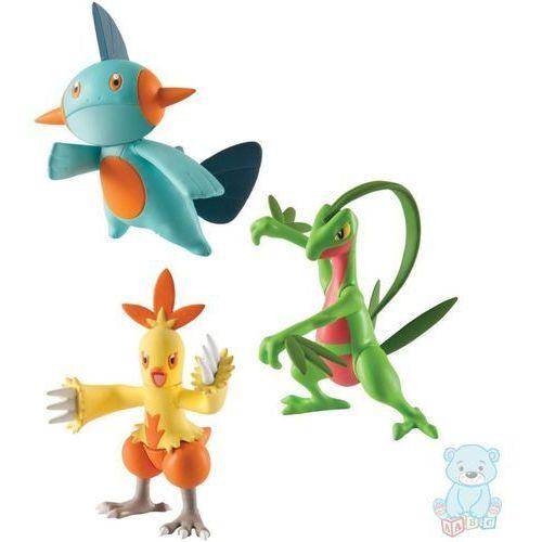 Figurki pokemon 3-pack grovyle, combusken, marshtomp marki Tomy