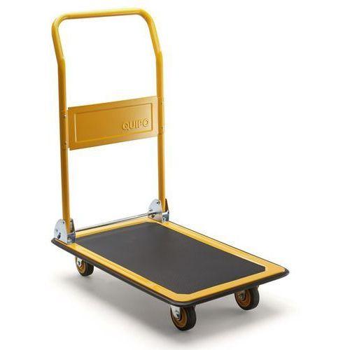 Wózek platformowy, nośność 170 kg, melonowo-żółty. Wzmocniona powierzchnia ładun