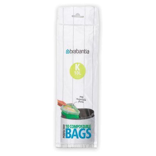 Worki na śmieci Brabantia PerfectFit Bags biodegradowalne rozmiar K 10l 10 szt, 364983