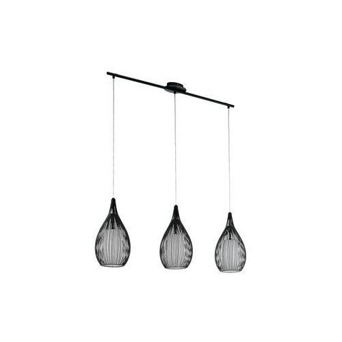 Lampa wisząca Eglo Razoni 94389 druciana zwis 3x60W E27 czarna, kolor Czarny