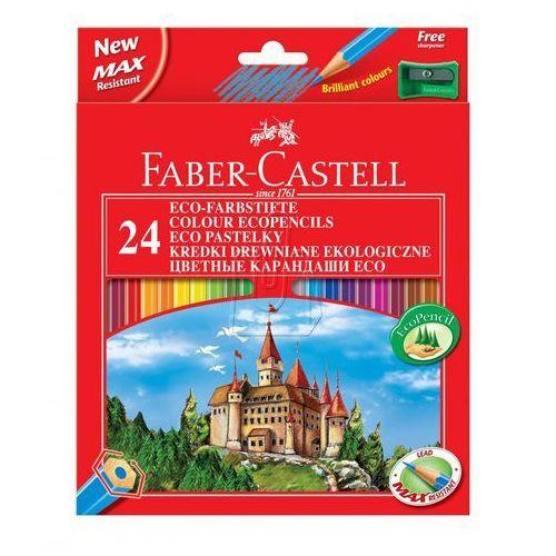 Kredki ołówkowe 24kol. Faber-Castell Eco + temp. 120124 (8690826994168)