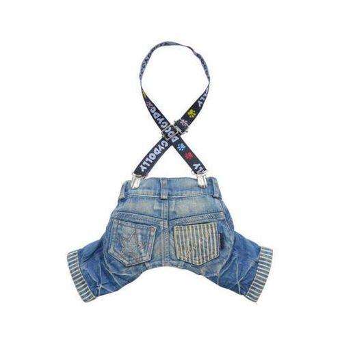 Doggy Dolly Spodnie z szelkami, jeans, 61-63 cm/89-91 cm - DARMOWA DOSTAWA OD 95 ZŁ!
