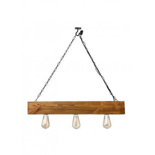 Lampa z belki drewnianej wisząca Balzan Mabrillo- dąb satynowy