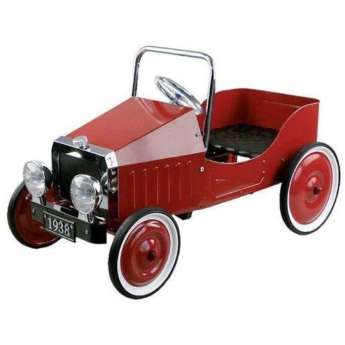 Samochód czerwony na pedały marki Goki