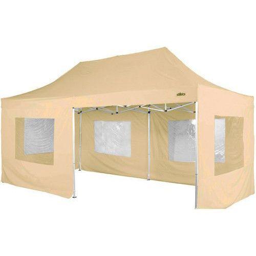 Beżowy ekspresowy pawilon ogrodowy namiot handlowy 3x6 m - beżowy od producenta Makstor.pl