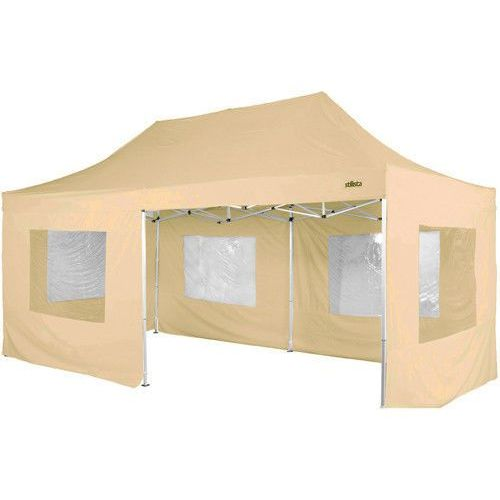 Makstor.pl Beżowy ekspresowy pawilon ogrodowy namiot handlowy 3x6 m - beżowy