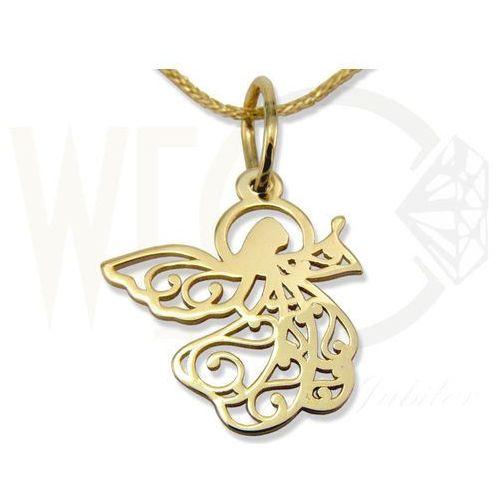 Wisiorek z żółtego złota aniołek wec-z-wis-aniołek-40 marki Węc - twój jubiler