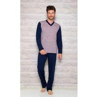 Piżama Taro Roman 004 dł/r 2XL-3XL N XXL, niebiesko-grafitowy. Taro, 2XL, 3XL, XXL, 1 rozmiar
