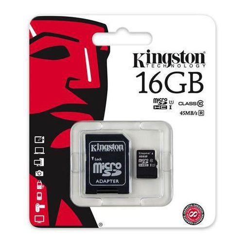 Karta Kingston SDC10G2/16GB microSDHC Class 10 UHS-I 45MB/s