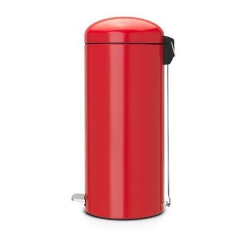 - kosz pedałowy 'retro' - wiaderko plastikowe – 30l - czerwony passion, marki Brabantia