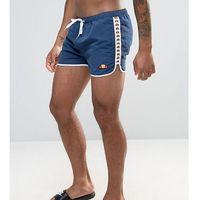 Ellesse Swim Shorts with Taping Exclusive to ASOS - Navy, 1 rozmiar