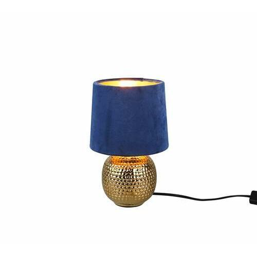 Trio RL Sophia R50821012 lampa stołowa lampka 1x40W E14 złota/niebieska (4017807477894)