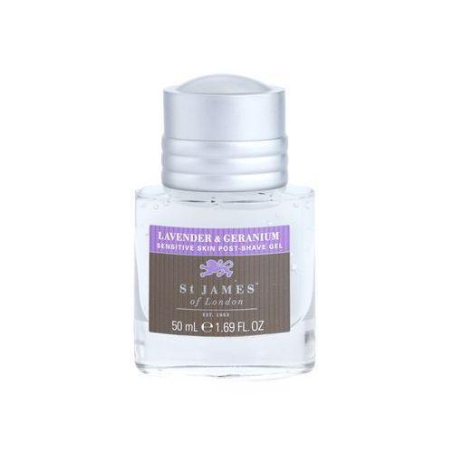 St. james of london  lavender & geranium żel po goleniu dla mężczyzn 50 ml bez pudełka opakowanie podróżne + do każdego zamówienia upominek., kategoria: pozostałe zapachy dla mężczyzn