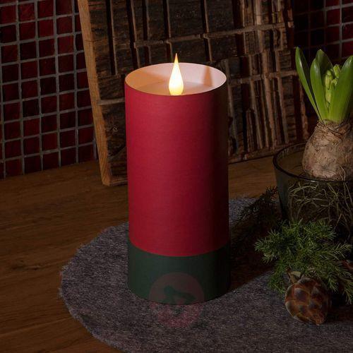 Konstsmide christmas Świeca led w cylindrze, płomień 3d, czerwony (7318308805955)