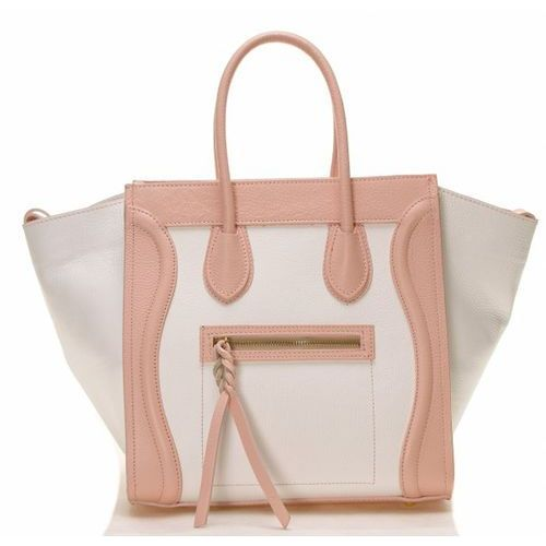 Evien Biało różowa torebka celine