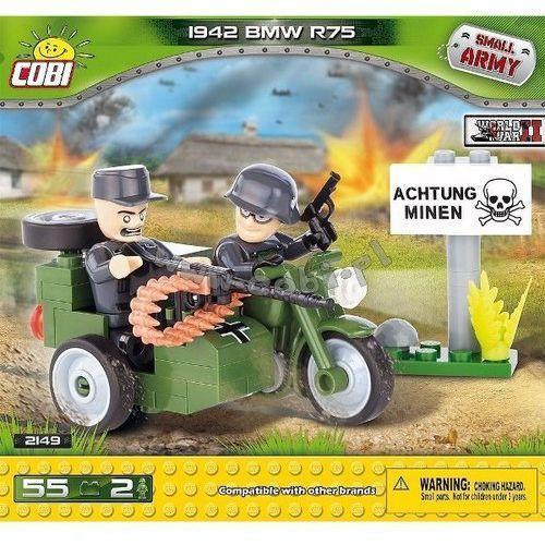 Cobi Small army samoloty ii motor bmw r75 z przyczepą (5902251021498)